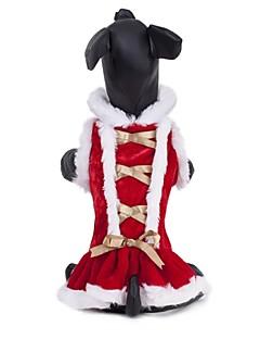 Katzen / Hunde Kleider Rot Hundekleidung Winter Weihnachten Hochzeit / Cosplay