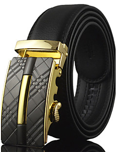Men's Genuine Leather Belt Business Automatic Buckle Belts Split Cow Leather Belts