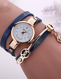 Damen Modeuhr Armband-Uhr Quartz Armbanduhren für den Alltag Imitation Diamant PU Band Böhmische Schwarz Weiß Blau Rot Marke