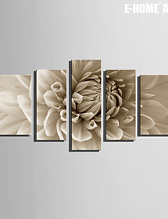 Botanical Print Canvas Cinque Pannelli Pronto da appendere , Verticale
