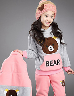 Girl's Blue / Pink / Red Clothing Set , Cartoon Cotton Blend Winter / Spring / Fall