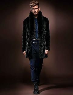 Men's Fashion Plus Size Faux Fur Outerwear