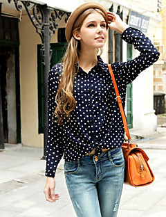 Women's Polka Dot  Shirt(chiffon)