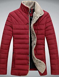 Ležérní / Práce Stojací límec - Dlouhé rukávy - MEN - Coats & Jackets ( Polyester )