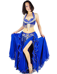 Belly Dance Outfits Women's Performance Polyester Draped / Tassel(s) 3 Pieces 11 Colors