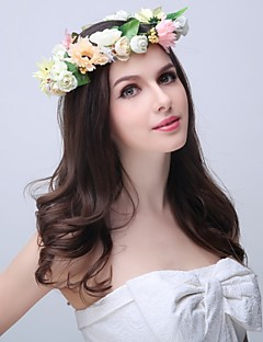 Women's / Flower Girl's Polyester / Foam / Fabric Headpiece - Wedding / Special Occasion / Outdoor Wreaths 1 Piece