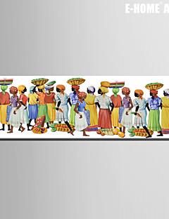 Ritratti Print Canvas Un pannello Pronto da appendere , Verticale