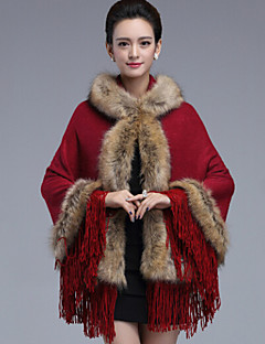 Wedding Faux Fur / Imitation Cashmere Capelets Sleeveless Wedding  Wraps / Fur Coats / Hoods & Ponchos