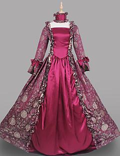 Steampunk®Hot Sale Burgundy Brocade Printing Lolita Long Prom Dress Marie Antoinette Inspired Dress Wholesalelolita Evening Dress