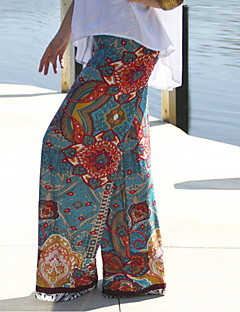Women's Print Multi-color Straight Pants , Print