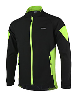 ARSUXEO® Cycling Jacket Men's Long Sleeve BikeThermal / Warm / Windproof / Anatomic Design / Waterproof Zipper / Reflective Strips / Back