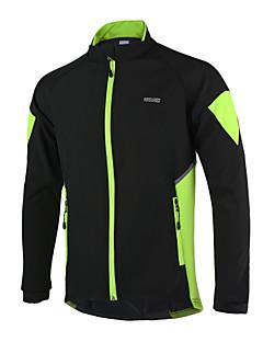 Arsuxeo® Cyklo bunda Pánské Dlouhé rukávy Jezdit na koleZahřívací / Větruvzdorné / Anatomický design / Voděodolný zip / Reflexní pásky /