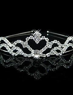 Wedding Bridal Crystal Veil Tiara Crown Headband