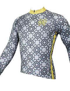 PALADIN® Cycling Jersey Men's Long Sleeve BikeBreathable / Quick Dry / Ultraviolet Resistant / Compression / Lightweight Materials / Back