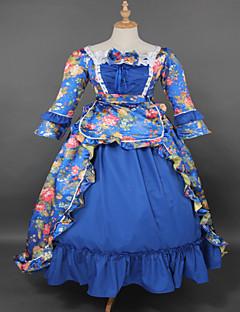 Steampunk®Top SALE Green Brocade Printing Lolita Long Prom Dress Marie Antoinette Inspired Dress Wholesalelolita Rococo Dress