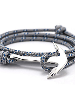 2015 New High Quality Jewelry Navy Risers Silver Anchor Bracelet For Men Women inspirational bracelets Christmas Gifts