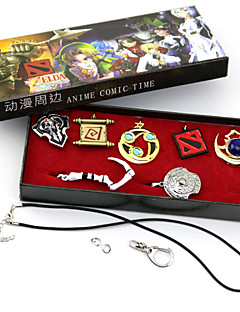 Jewelry Inspirirana LOL Cosplay Anime / Video Igre Cosplay Pribor Ogrlice Zlatna / Srebrna Alloy Male / Female