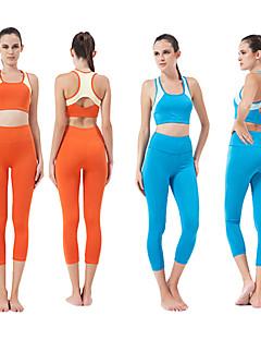 Running Clothing Sets/Suits Women's Sleeveless Breathable Modal Yoga / Pilates / Fitness HaiYunLai Sports Wear Stretchy PerformanceOrange