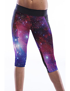 Women's Trendy Galaxy Print Sports Capris