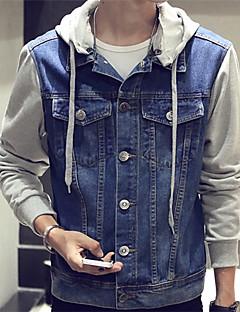 DMI™ Men's Hoodie Casual Print Denim Jacket