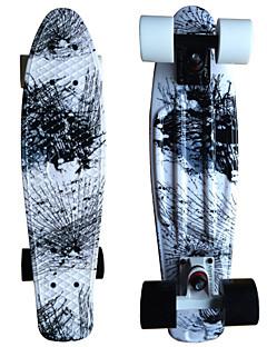 PU Standard-Skateboards StreifenWeiß Mixfarben