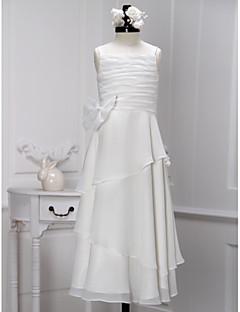 Sheath/Column Ankle-length Flower Girl Dress - Chiffon Sleeveless