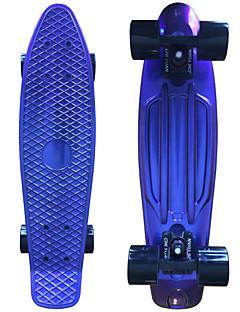 eloxiert Kunststoff-Skateboard (22 inch) Cruiser-Board mit ABEC-9 trägt blau
