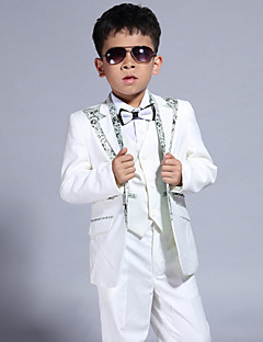 Polyester Ring Bearer Suit - 5 Pieces Includes  Jacket / Shirt / Vest / Pants / Bow Tie