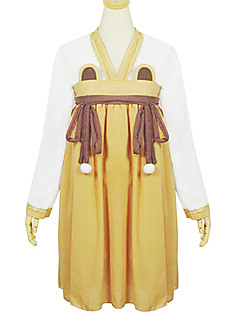 Brown Polyester  Chinese Clothing Costume