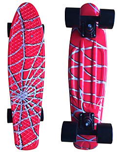 Spinnennetz Grafik gedruckt Kunststoff-Skateboard (22 inch) Cruiser-Board mit ABEC-9 Lager