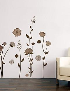 Noël Floral Vacances Paysage Stickers muraux Autocollants muraux 3D Autocollants muraux décoratifs Matériel AmovibleDécoration