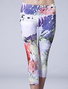 Queen Yoga בגדי ריקוד נשים טייץ לריצה נושם דחיסה תומך זיעה 3/4 טייץ מכנסיים חותלות תחתיות ל יוגה כושר גופני אלסטיין טרילן S M L
