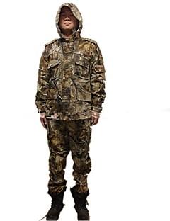 집 밖의 남성의 의류 세트/수트 / 겨울 자켓 수렵 / 피싱 방수 / 보온 / 충격방지 봄 / 여름 / 가을 / 겨울 다크 그린 - 기타 - L / XL / XXL / XXXL / XXXXL
