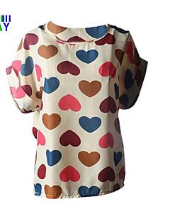 ZAY Women's Summer Fresh Multicolor Heart Print  Sleeveless T-shirt