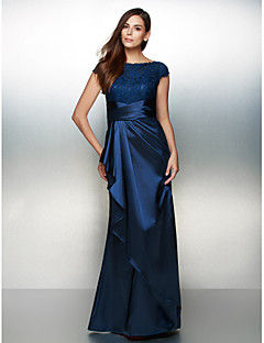 Formal Evening / Black Tie Gala Dress Sheath/Column Scoop Ankle-length Charmeuse