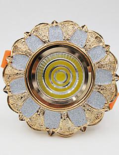 5W 500lm COB Euroopan led-kattovalaisin downlight valokeilassa lamppu hartsi + alumiini
