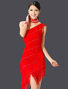 Latin Dance Dresses Women's Performance Chinlon Tassel(s) 1 Piece More Colors Available