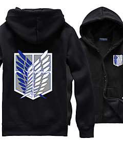 Inspirado por Attack on Titan Allen Walker Animé Disfraces de cosplay sudaderas Cosplay Un Color / Estampado Negro Manga Larga Top
