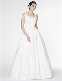 Lanting Bride A-line Wedding Dress-Court Train Square Satin