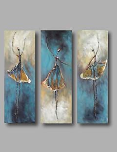 El-Boyalı Soyut Soyut Portreler Dikey,Modern Üç Panelli Kanvas Hang-Boyalı Yağlıboya Resim For Ev dekorasyonu