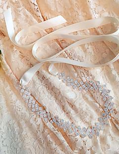 Raso Matrimonio / Party/serata / Da giorno Fusciacca-Con perline / Diamantini / Pelle/pelliccia Da donna 250cmCon perline / Diamantini /