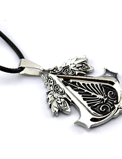 Jewelry Inspirirana Assassin Creed Connor Anime / Video Igre Cosplay Pribor Ogrlice Crna / Crvena / Žuta Alloy Male