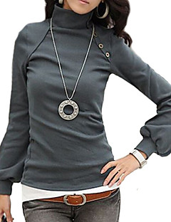 Women's Work Long Sleeve Regular T-shirt (Cotton)