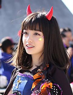 Cosplay Parykker Cosplay Alice Sort Medium Anime Cosplay Parykker 50 CM Varmeresistent Fiber Mand / Kvindelig