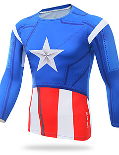 XINTOWN Male Captain America - Riding Fitness Tights T-shirt