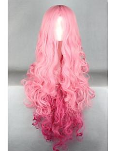 Lolita Wigs Sweet Lolita Lolita Extra Long Pink Lolita Wig 100 CM Cosplay Wigs Solid Wig For Women