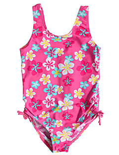 Kids Girl's Multi-color 1pc Summer Swimwear Floral Polyester / Nylon Swimming Wear Tankinis for 1~6Year Baby Girls