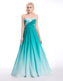 Formal Evening Dress Ball Gown Sweetheart Floor-length Chiffon