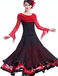 ריקודים סלוניים שמלות בגדי ריקוד נשים ביצועים קרפ מילק פייבר עטוף חלק 1 שמלות S:126  M:127   L:128   XL:129   XXL:130cm