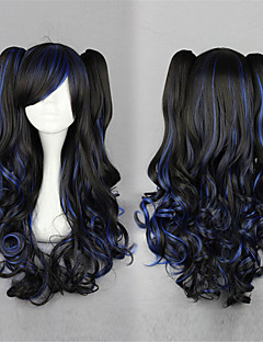 Lolita Wigs Sweet Lolita Lolita Long Black Lolita Wig 70 CM Cosplay Wigs Solid Wig For Women